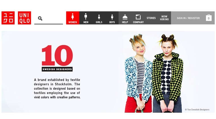 Japans största konfektionsmärke gör nu kläder med design från svenska 10-gruppen. Kul!