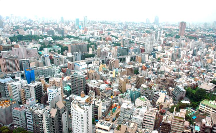 En typisk miljö för att snacka affärer i Japan.