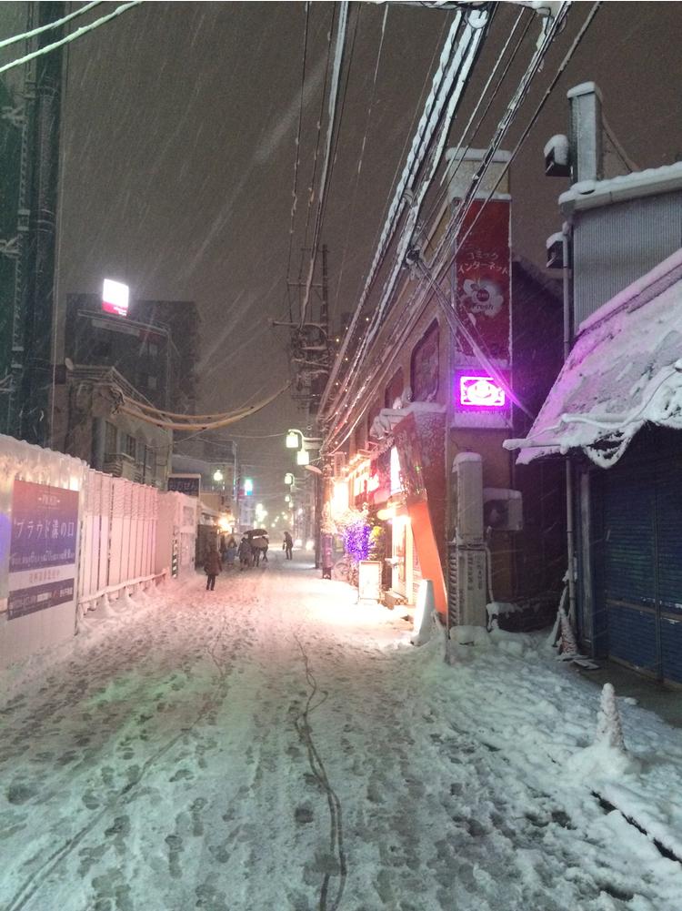 Det ser inte mycket ut för en svensk, men i Tokyo är det här MYCKET SNÖ!