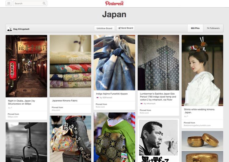 Det kryllar av vackra bilder från Japan på Pinterest.