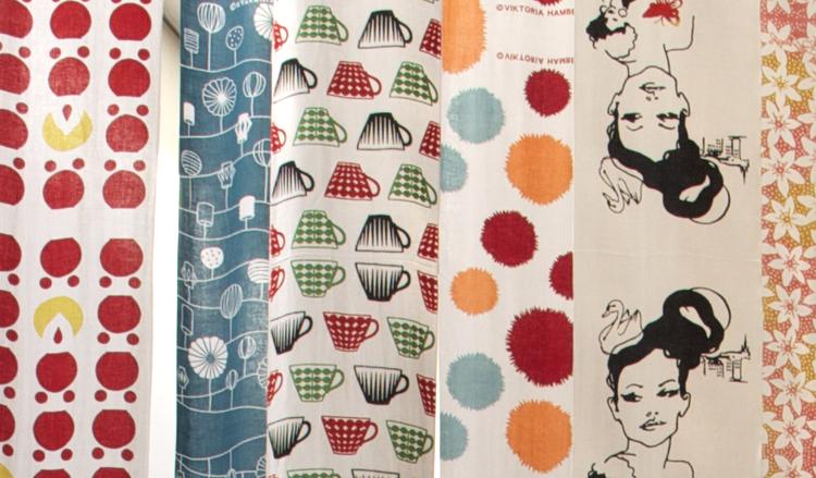 Svensk textildesign på export till Japan - bra trend!  Foto: Rieko Mise