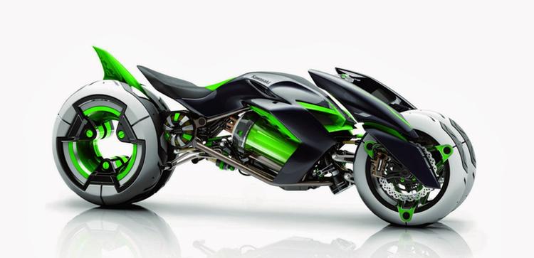 En av de mer fantasifulla kreationerna på årets motormässa i Tokyo - från Kawasaki. BILD: Kawasaki Heavy Industries