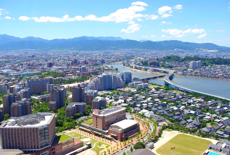 "Fukuoka kvalar nu in på Monocles tio-i-topp-lista över världens ""most liveable cities"".  Foto: Wikimedia Commons"