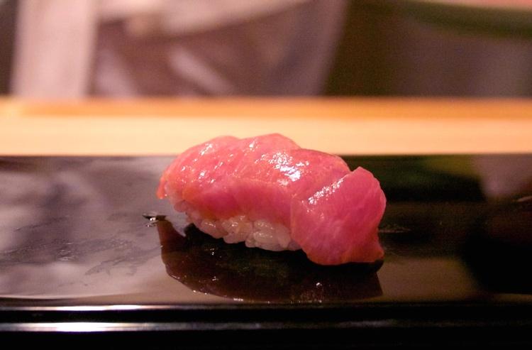 Riktigt grym ootoro, den feta delen av tonfisken..  Foto: Rieko Mise