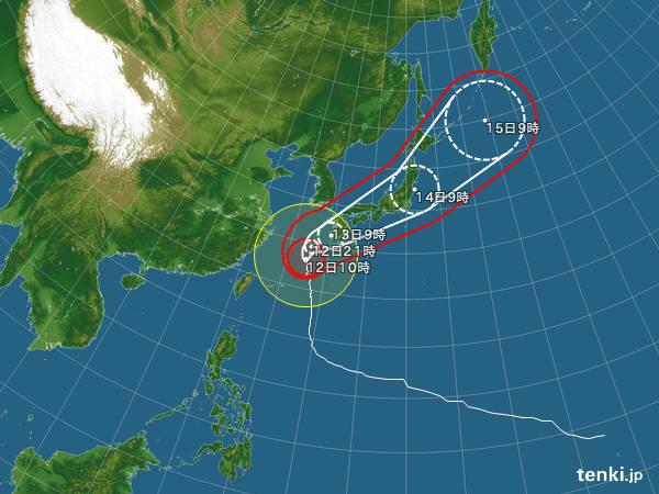 Om prognosen stämmer, har vi alltså Vonfong i Tokyo från någon gång i morgon och ett drygt dygn efter det.. Men tyfonerna lyder sällan prognoserna till punkt och pricka.