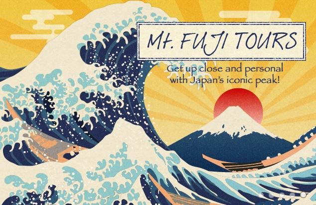 Mount Fuji finns självklart med i reseutbudet.