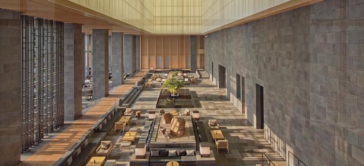 Aman Tokyo har en särdeles vacker lobby, eller hur?  Foto: Aman Resorts