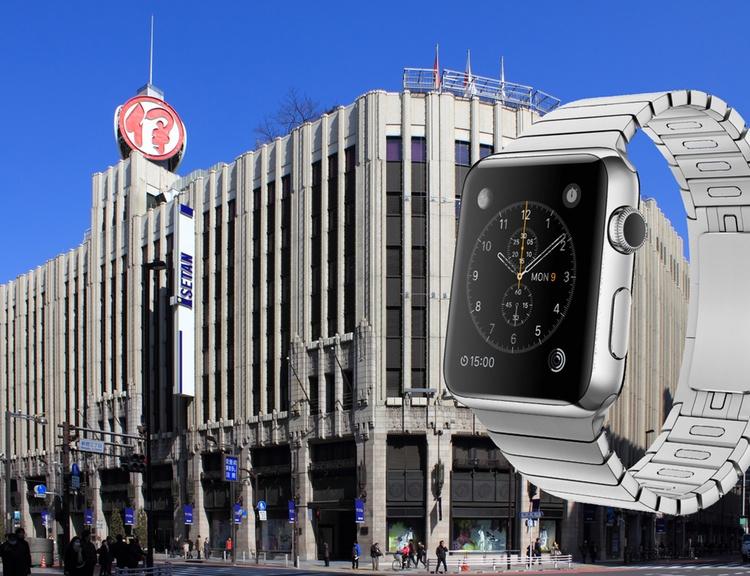 Apples första Apple Watch-butik håller nu på att byggas inne på varuhuset Isetan i Shinjuku. Ett ganska typiskt och flott japanska varuhus som kan vara kul att titta in i även om man inte tänker köpa en klocka.  Foto: Wikimedia Commons och Apple