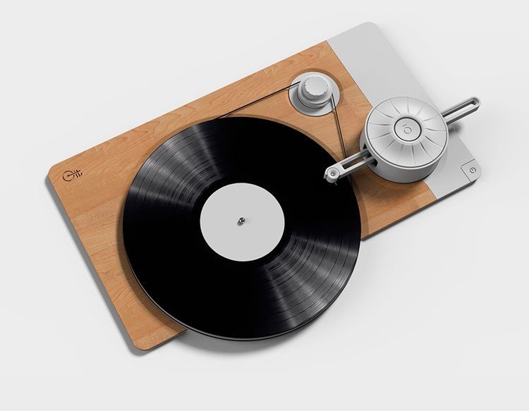 Ren och enkel design för analog skivspelare - hoppas att vi får se den i produktion.