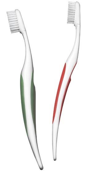 Den svenska Proxident-borsten är tveklöst en av världens bäst formgivna tandborstar. Det verkar som om enbart den fetare versionen till vänster tillverkas idag.