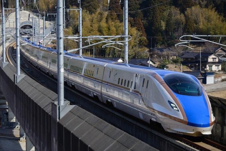 Senaste Shinkansen-linjen - Hokuriku Shinkansen - är en av årets stora hits.  Foto: Creative Commons