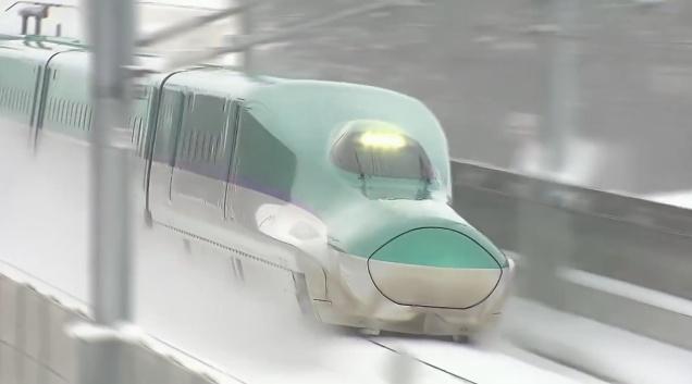 Just nu körs det omfattande tester av Shinkansen-tåg på Hokkaido Shinkansen-linjen. Den öppnar för allmän trafik den 26:e mars.