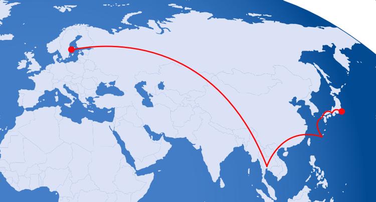Har man tid, så kan en mera komplicerad väg till Japan vara rikigt prisvärd.