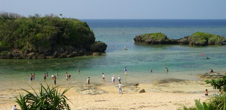 Samtidigt, nere på Okinawa...  Foto: Public Domain