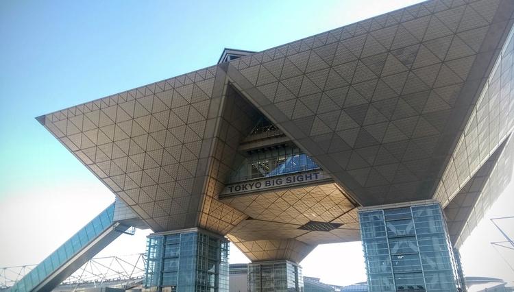 Big Sight är ett gigantiskt mässhallsområde nere vid Tokyo-bukten.