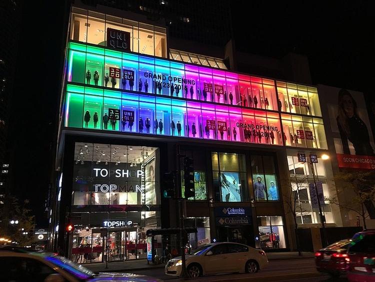UNIQLOs flaggskeppsbutik i Chicago - kanske snart också i Stockholm Foto: Lacrossewi, Creative Commons 4.0