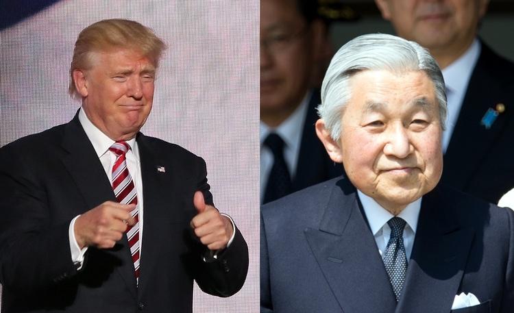 Trump kommer att få ett möte med japanske kejsaren Akihito i november. Trump kommer säkert att klaga på avsaknaden av guld i kejsarpalatset. Foton: Public Domain