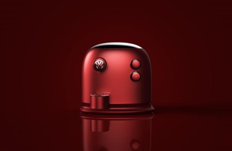 Barista Beetle är ett koncept för en kaffemaskin från Volkswagen.. Hoppas de nappar!  Bild: Jarim Kom