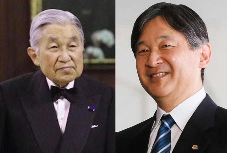 Kejsare Akihito abdikerar den 30:e mars och efterträds av äldste sonen Naruhito.  Foto: Public Domain samt Michel Temer (Creative Commons license)