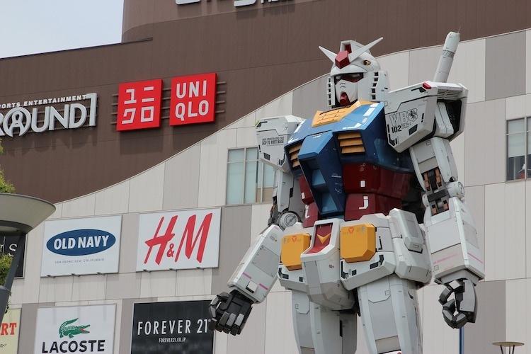 Gundam - den tecknade figur som inledde en stark trend som fortfarande är i högform; inspirationen bakom t ex Pacific Rim-filmerna.  Foto: Public Domain