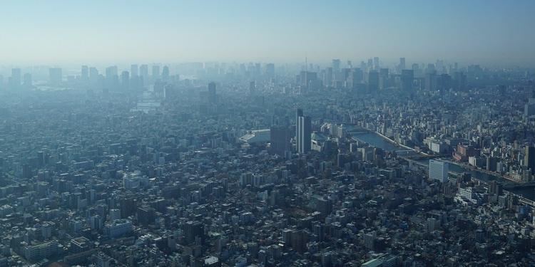 Tokyo - staden som inte verkar ha något slut..  Foto: Public Domain