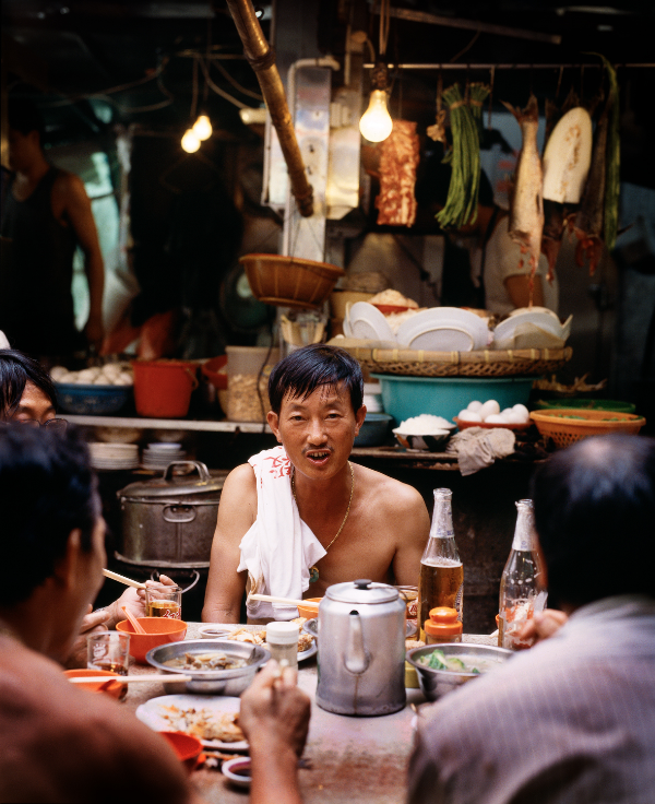 Lunch in Hong Kong - Stanley Street, 1997