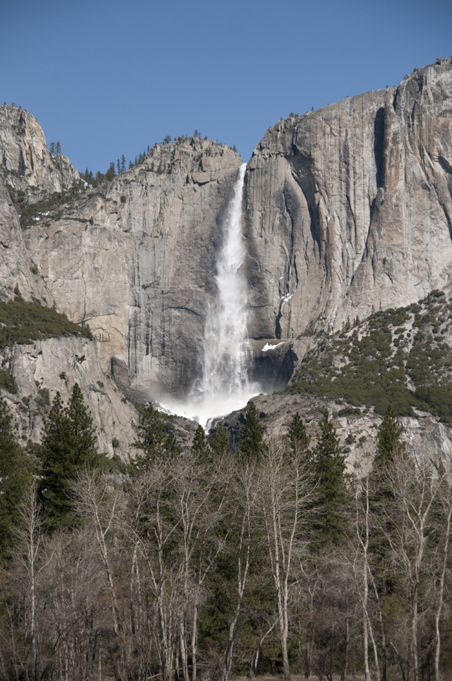 waterfall yosemite