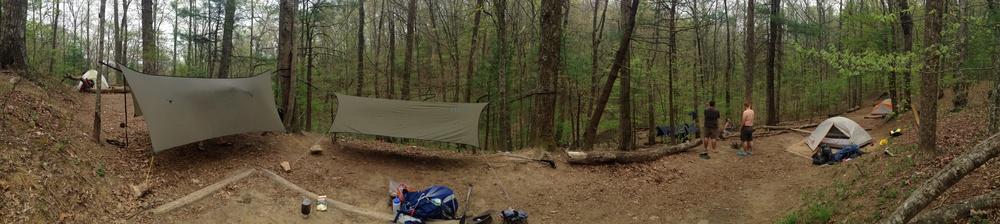 communal camping at Lance Creek