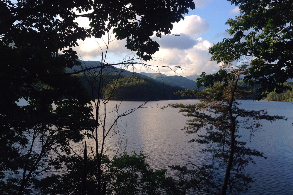 View of Fontana Lake from the AT