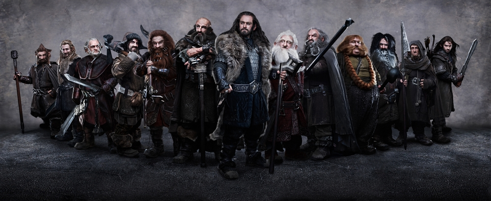 They do not, as one might expect, all look like Gimli and the seven dwarf-kings of the trilogy's prologue.