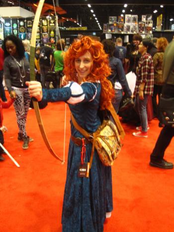 Merida, from Brave. Dress by Jessica Doan.