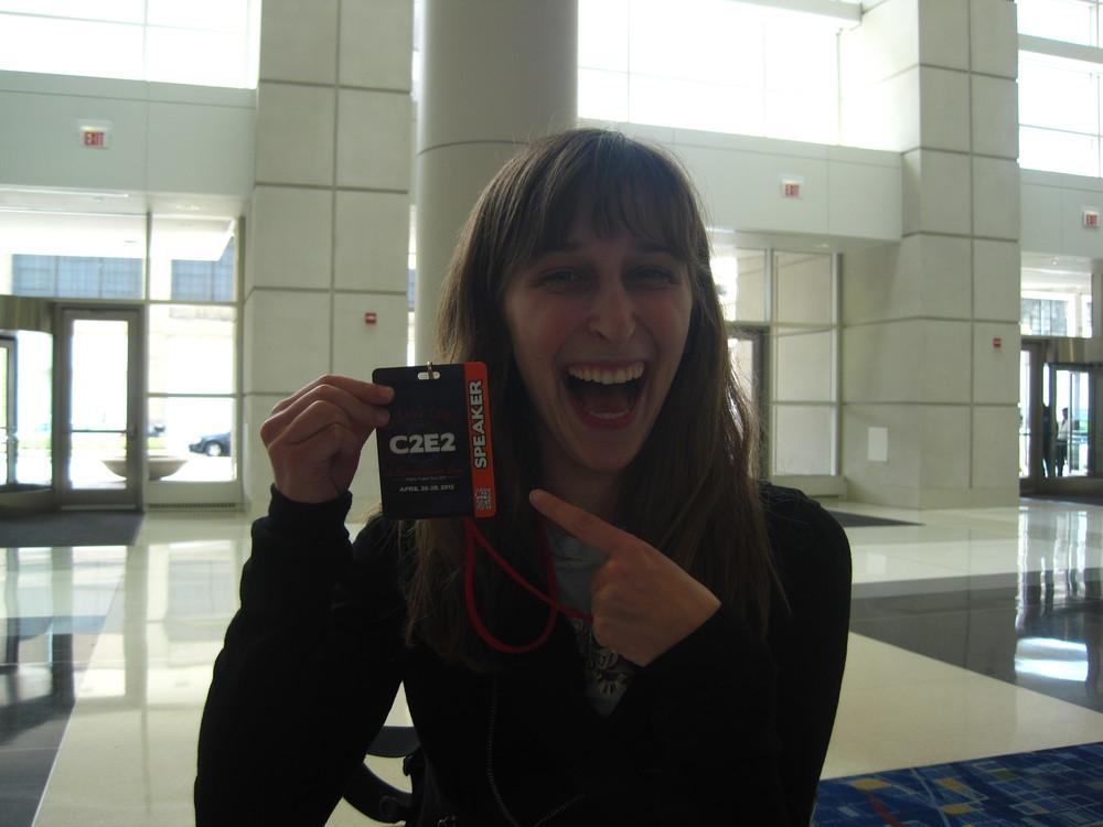 I've got a speaker badge!