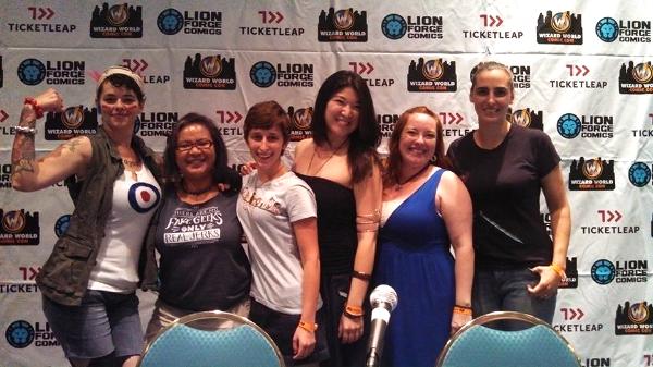 Carlye Frank, Michi Trota, myself, Dawn Xiana Moon, Erin Tipton, Kate Lansky.