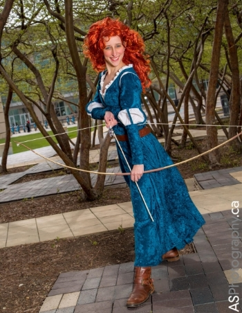 Sunday I was Merida, and Kids' Day is always a great day to be a Disney princess--there's a neverending stream of young children who want to pose with you. Photo by Andreas Schneider