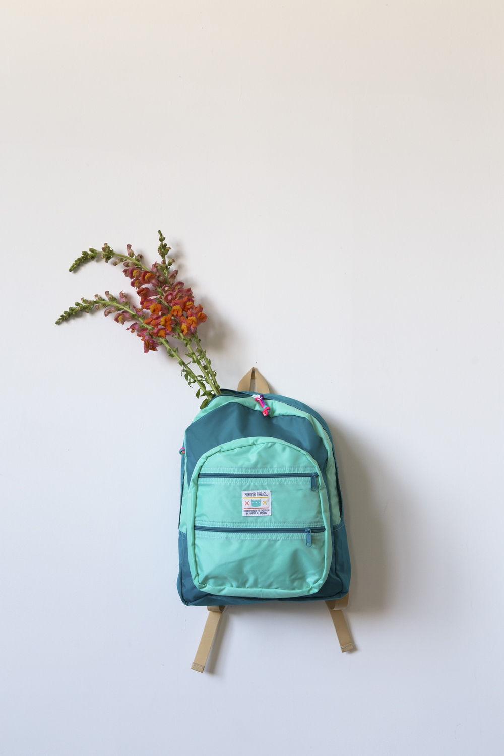 Mint + Jade Big Pocket Bag