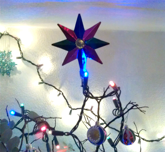 The colorful star is from a Christmas trip to Mexico two years ago.