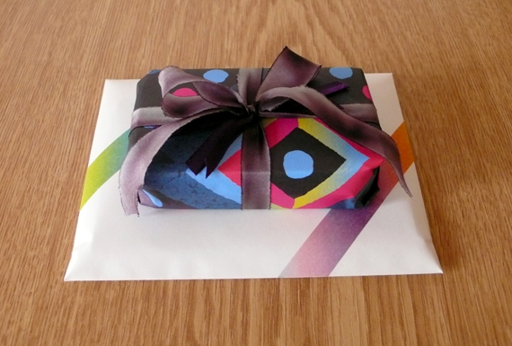 Gift wrap is from issue 4 of wrap magazine.