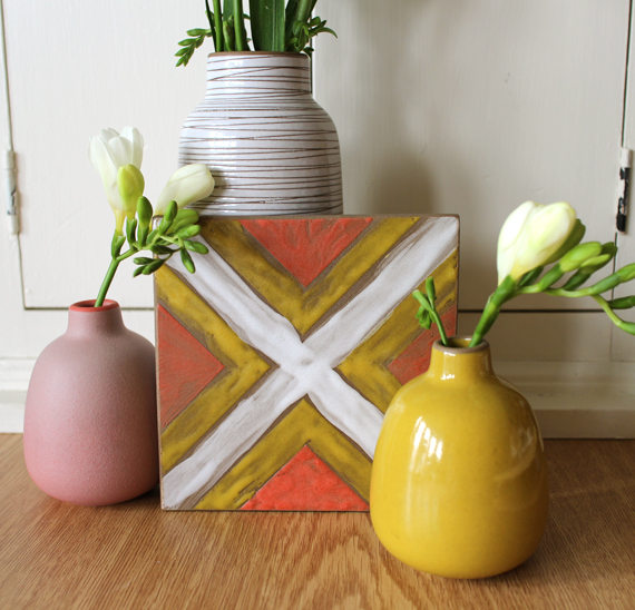 I recently glazed a tile at Heath Ceramics. I own a few of their pieces with similar glaze color.