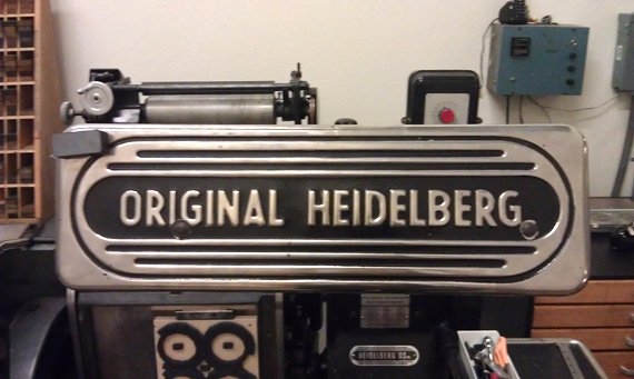 The workhorse press is a Heidelberg Windmill.