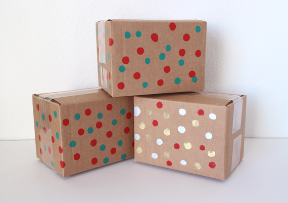 My Etsy shipments get the polka dot treatment to.