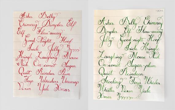 Christmas Calligraphy Shastablasta Wraps Presents Well