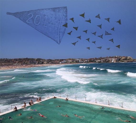 View of Bondi Beach from Icebergs Swim Club.