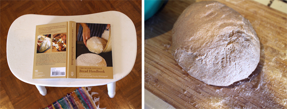 Keeping the book close at hand/Kneaded ball of dough.