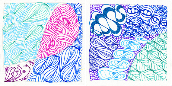 Left Tile:  Echoism, Sand Swirl, and Onion Drops.  Right Tile:  Kandy Ribnz, Inapod, Onion Drops, Tipz, and Leaflet.