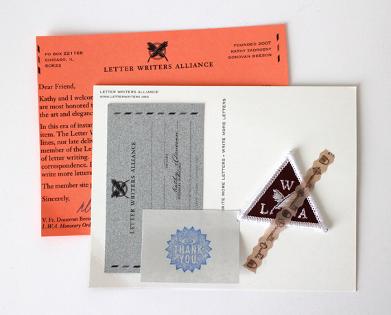 For an easy five bucks I got my membership (complete with membership card) to the Letter Writing Alliance. Check it out and get yourself a pen pal!