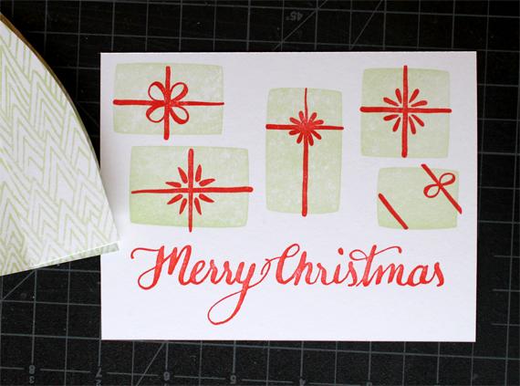 A new letterpressholiday card.