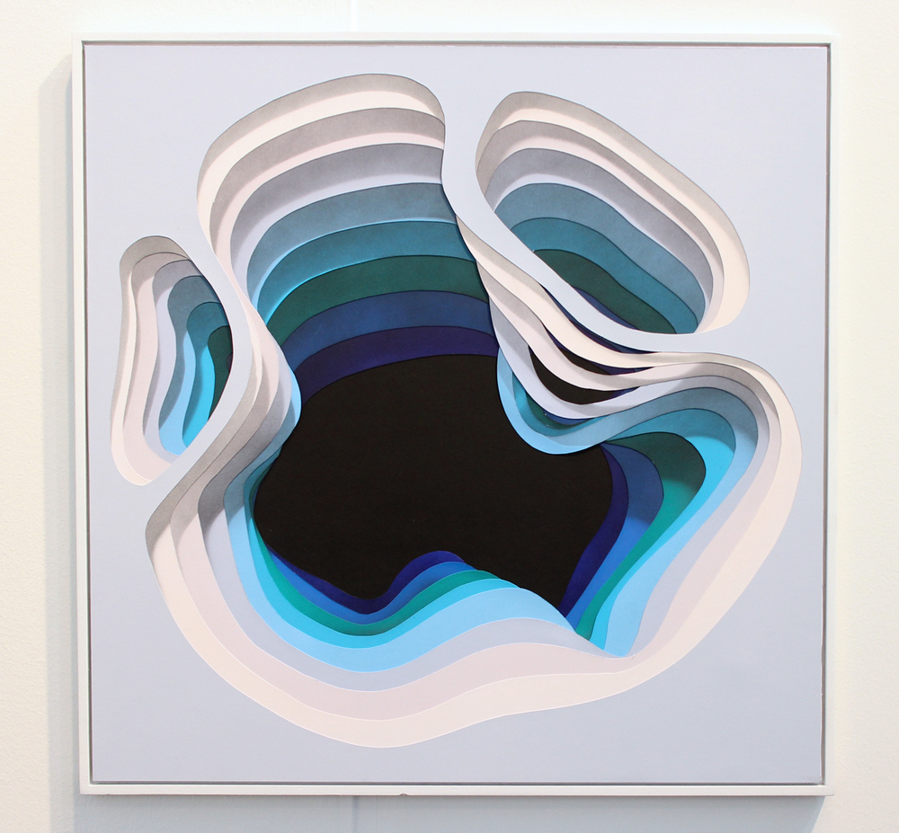 """1010 - """"Limbus_07"""", acrylic on handcut paper. represented by Hashimoto Contemporary"""