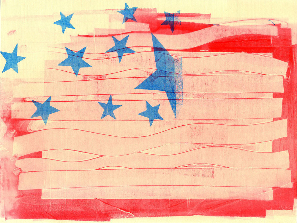This flag really shows the paper strips I used to print with.