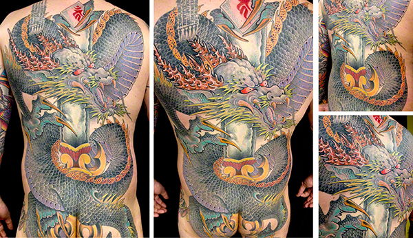 Japanese Dragon by Jeff Zuck Name Brand Tattoo Ann Arbor MI