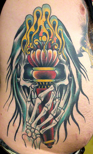 Torch by Jeff Zuck Name Brand Tattoo Ann Arbor MI